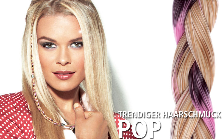 POP - trendiger Haarschmuck (© Great Lengths)