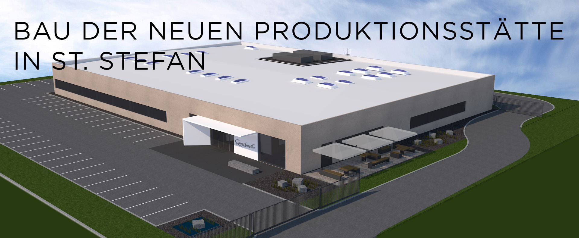 Bau der neuen Produktionsstätte in St. Stefan (© Great Lengths)