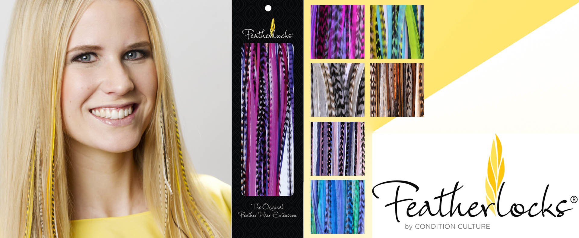 Feder-Extensions von Featherlocks (© Great Lengths)