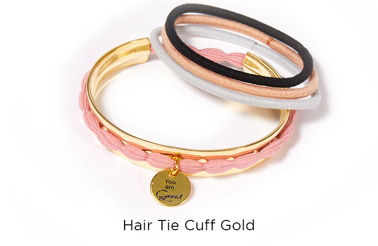 Hair Tie Cuff Gold:  (© © Great Lengths)