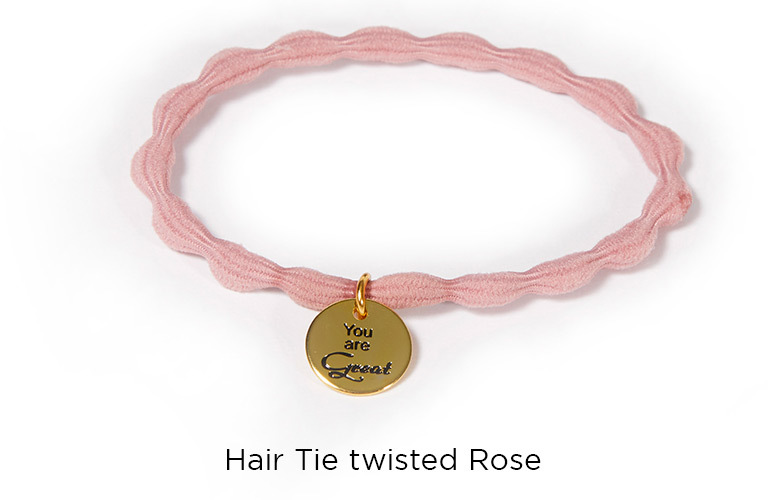 Hair Tie twisted Rose:  (© )