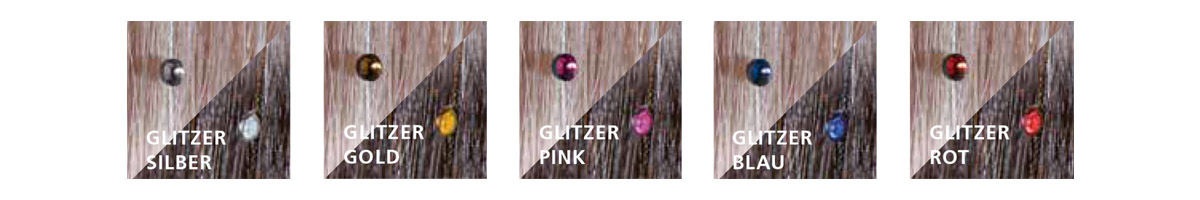 GLITZER-STRÄHNEN SWAROVSKI (© Great Lengths)