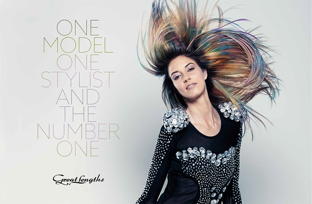 ONE MODEL ONE STYLIST AND THE NUMBER ONE (© Great Lengths)
