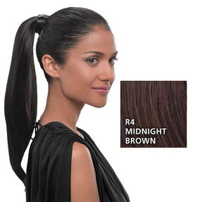Simply Straight Pony, Midnight Brown:  (© HAIRUWEAR)