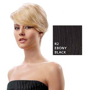 Swept-Away-Bang Seitenpartie, Ebony Black:  (© HAIRUWEAR)