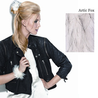 FAUX FUR SNAP WRAP Arctic Fox