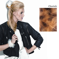 FAUX FUR SNAP WRAP Cheetah