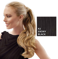 23 inch Wrap Around Pony, Ebony Black