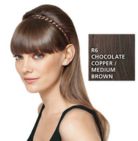 French Braid Band, geflochtenes Haarband, Chocolate Copper