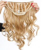 "23"" Clip-in Wavy, Rückseite:  (© Great Lengths)"