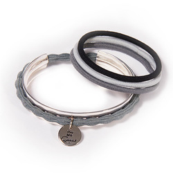 Hair Tie Cuff Silver:  (© Great Lengths)