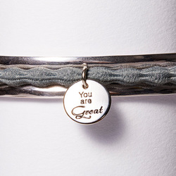 Hair Tie Cuff Silver, Zoom:  (© Great Lengths)