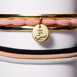Hair Tie Cuff Gold, Zoom:  (© )