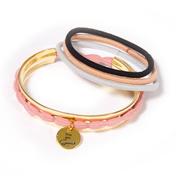 Hair Tie Cuff Gold, Set:  (© )